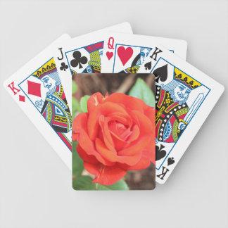rose bicycle playing cards