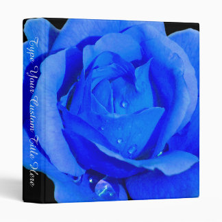 Rose Binder Personalized Blue Rose Photo Album
