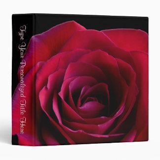 Rose Binder Personalized Red Rose Photo Album