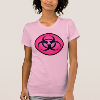 Rose Biohazard Symbol T-Shirt