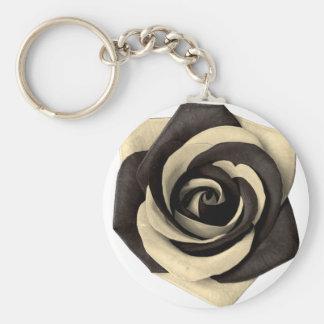 Rose Black Keychain