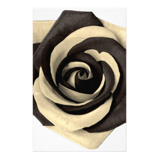 Rose Black Stationery