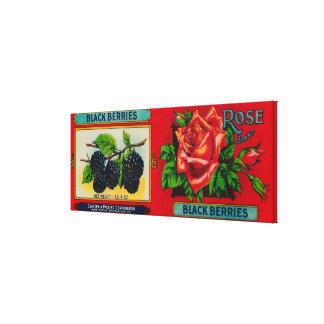 Rose Blackberry Label Canvas Prints