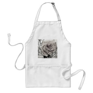 Rose blanc magnifique tablier