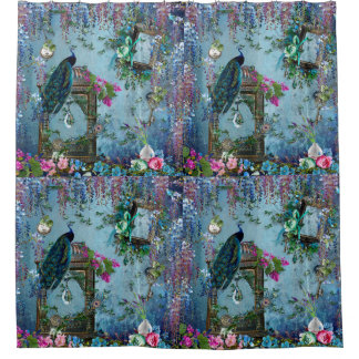 Rose bleu de lavande de glycines de jardin de paon