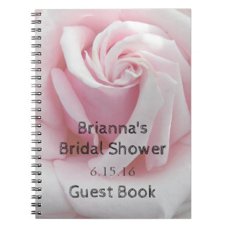 Rose Bloom Personalized Bridal Shower Guest Book