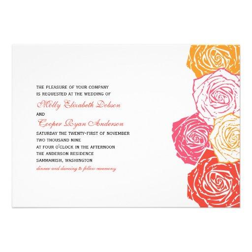 Rose Blossom Wedding Invitation