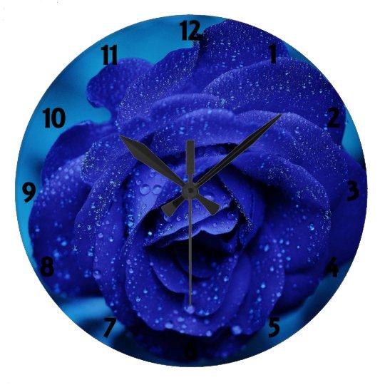 Rose Blue Wall Clock