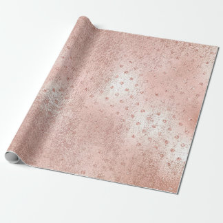Rose Blush Foxier Skin Gold Beauty Pink Dots Wrapping Paper
