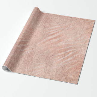 Rose Blush Foxier Skin Gold Beauty Pink Zebra Wrapping Paper