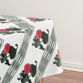 Rose border tablecloth