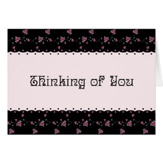 Rose Border Victorian Thinking of You card