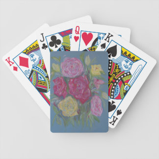 Rose Bouquet Bicycle Playing Cards