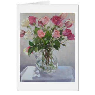 """Rose Bouquet"" Blank Greeting Card"