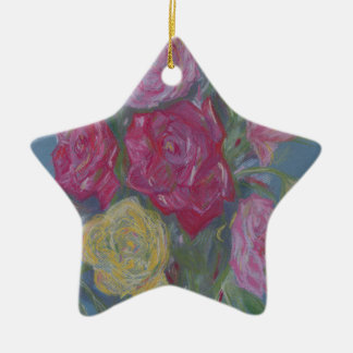 Rose Bouquet Ceramic Ornament