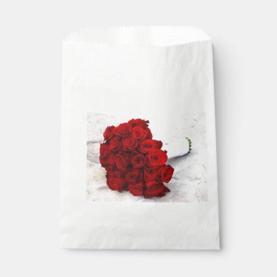 rose bouquet favours favour bag