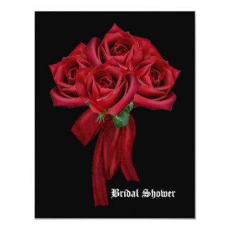Rose Bouquet Gothic Bridal Shower Card