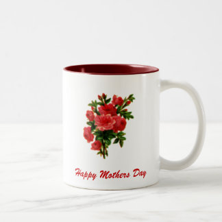 Rose Bouquet, Happy Mothers Day Two-Tone Mug