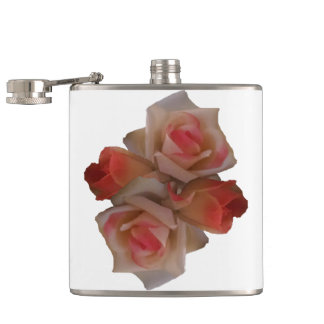 Rose Bouquet Hip Flask