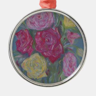 Rose Bouquet Metal Ornament