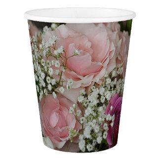 Rose Bouquet Paper Cup