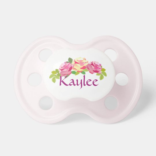 Rose Bouquet Personalized Baby Pacifier