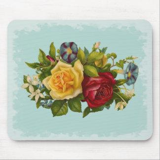 Rose Bouquet Victorian Vintage Mouse Pad