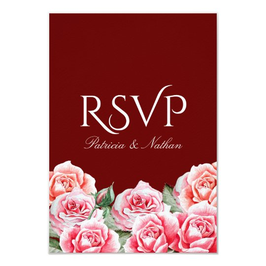Rose Bouquet Wedding RSVP card