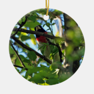 Rose Breasted Grosbeak Ornament