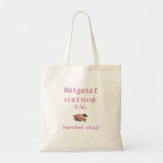 Rose Bridesmaid Tote Bag