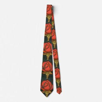 """""""Rose Bud"""" Flower Garden Neck Tie"""