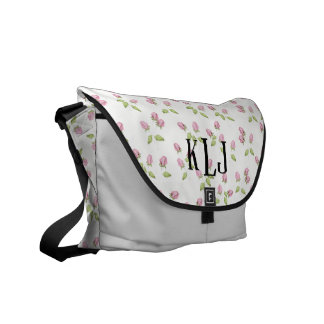 Rose Bud Monogram Bag Courier Bag
