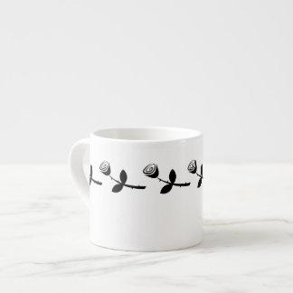 Rose Bud Pattern Espresso Cup