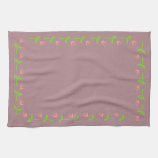 Rose Bud Pattern Hand Towel