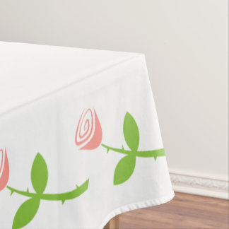 Rose Bud Pattern Tablecloth
