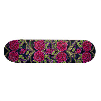 Rose Bush Heart Design Skate Deck