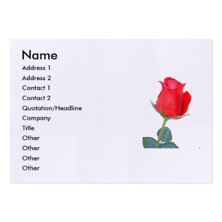 Rose Large Business Cards (Pack Of 100)