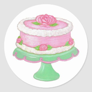 Rose Cake Sticker