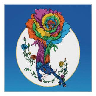 Rose Cat Poster