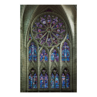 Rose Cathedral Window Poster