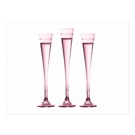 Rose Champagne Flutes Postcard