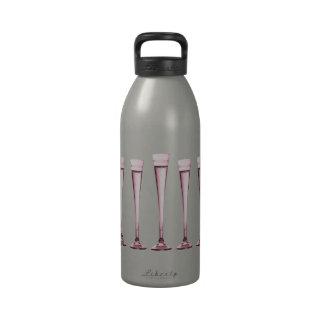 Rose Champagne Flutes Drinking Bottles