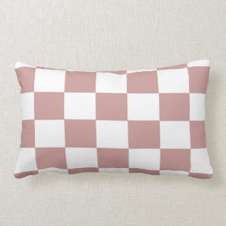 Rose Checkerboard Lumbar Pillow