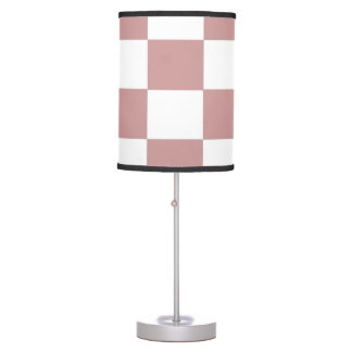 Rose checkerboard table lamp