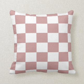 Rose Checkerboard Throw Pillow