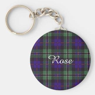Rose clan Plaid Scottish tartan Keychain