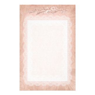 Rose Colored Decorative Stationary Stationery
