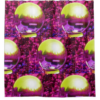 Rose Colored Glasses Gazing Ball shower curtain