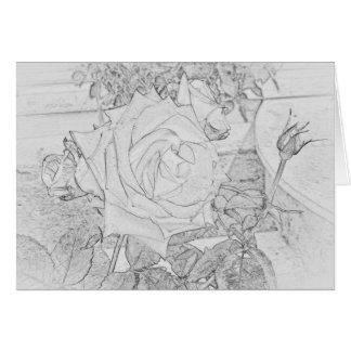 Rose Coloring Sheet Greeting Card