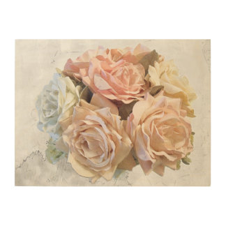 Rose Composition Wood Wall Decor
